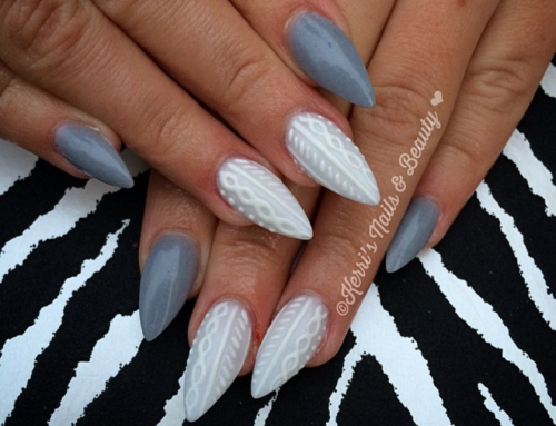 Trendalert! Cable knit nails