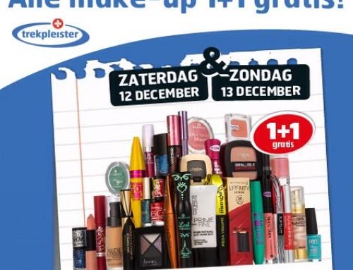 1+1 gratis op alle make-up bij Trekpleister