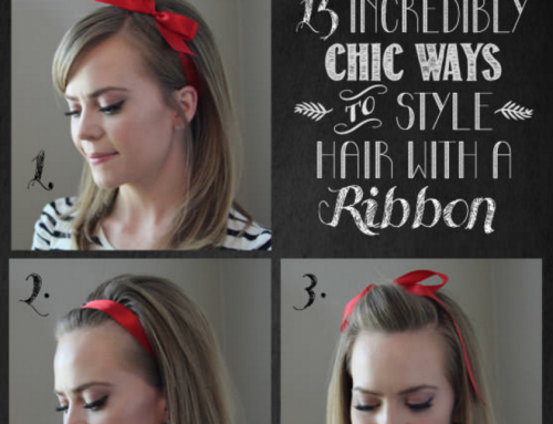 Hair do's with a ribbon