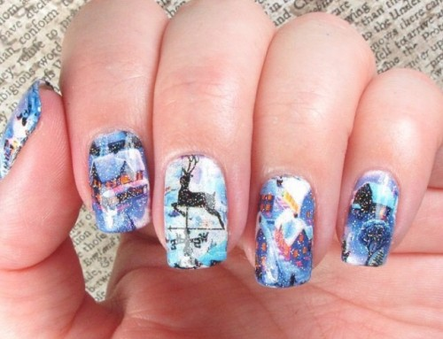5x Winterse Feestdagen Nail-arts