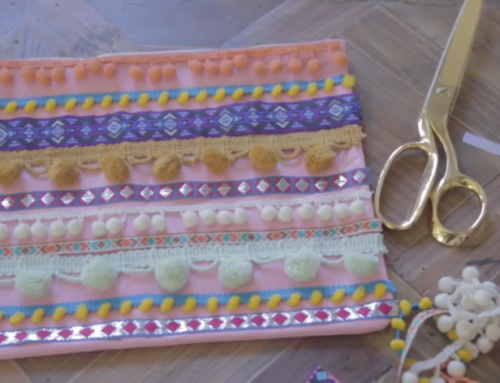 DIY: Colourful Clutch