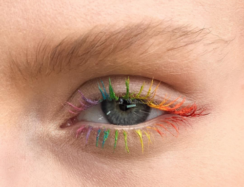 Trendalert! Rainbow lashes