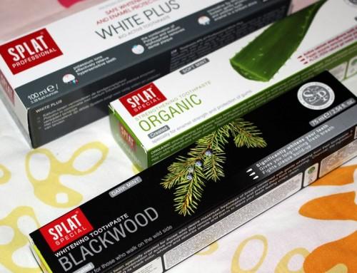 Witte tanden door de zwarte Splat Blackwood tandpasta?