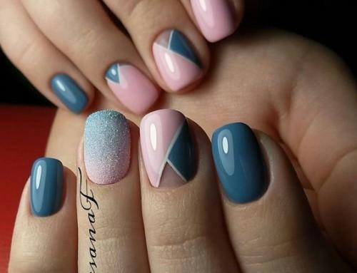 Klaar met egale nagels? Probeer een geometrische nail-art!