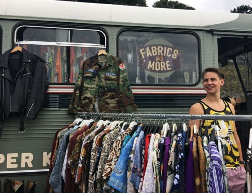 Fabrics & More vintage bus