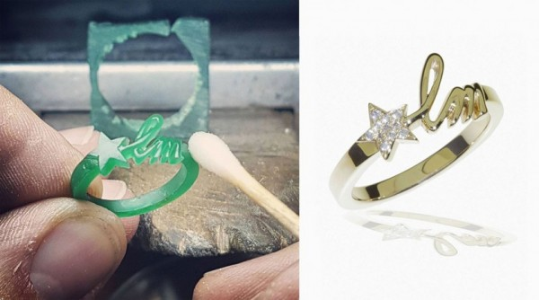 How it's made Initial letter ring