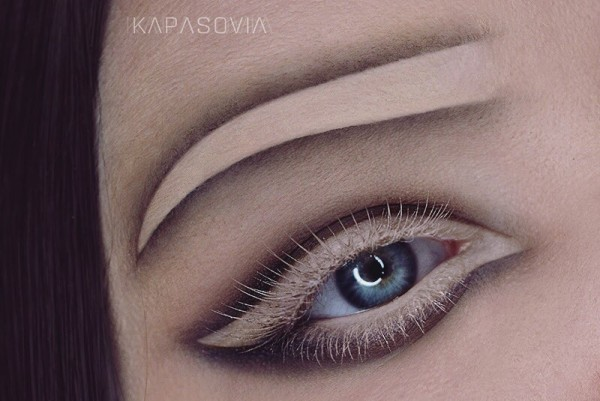 Negative space brows