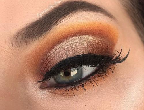 Oranje make-up draag je zo!