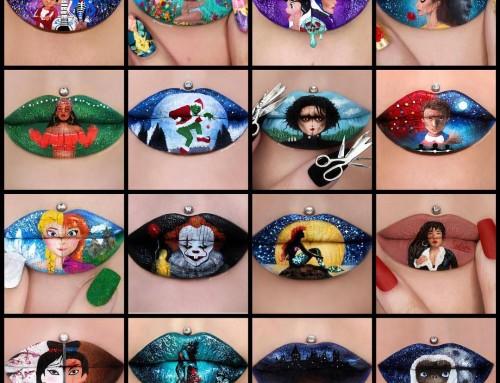 Jaloersmakende kunstwerkjes voor op je lippen