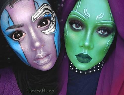 Creatief met make-up en een hoofddoek